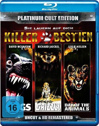 Killerbestien...sie lauern auf dich (Grizzly, Day of the Animals, Dogs-Killerhunde) - Platinum Cult Edition [Blu-ray]
