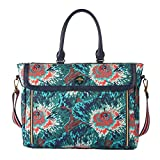 Oilily Winter Flowers Office Bag Teal