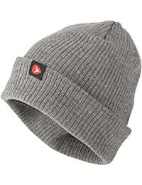 Greys Men's Knitted Ribbed Beanie, Grey, One Size