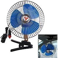 Domybest Ventilador oscilante Portátil 12V Ventilador de refrigeración automóvil para Coche