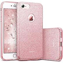 Funda iPhone 7, ESR Funda Case Carcasa Dura Brillante Brillo Purpurina llamativa para Apple iPhone 7 - Rosa dorado
