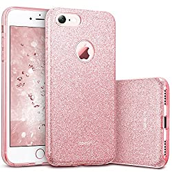 ESRGlitzer Bling Hülle kompatibel mitiPhone7,iPhone8 Hülle [Glänzende Mode] Designer Schutzhülle füriPhone7/8 4.7 Zoll - Rosa