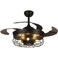 SILJOY Lustre Ventilateur de Plafond, Plafonnier Ventilateur Silencieux avec Lumières et Télécommande, Diamètre de 106…