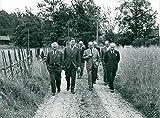 Fotomax Vintage Photo of Ornö. Inspection Walk on Future Leisure Island. Edvin Stream, Bertil Pettersson, Folke Törnqvist and