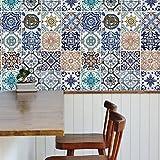 Walplus(TM) Entfernbarer Wand Sticker Mosaik Kachel Muster x 9 packung - Wohndeko, 162cm x 162cm, Multi - Farbe
