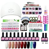Saint-Acior 36W UV/LED Lámpara Esmaltes de Uñas 10pcs Kit Uñas de...