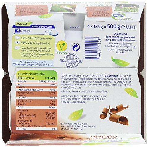 Alpro Soya Dessert Schoko mildfein, 3er Pack (3 x 500 g Packung) - 5