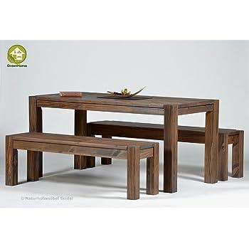sitzgruppe garnitur mit esstisch rio bonito 120x80cm bank 100x38cm pinie massivholz. Black Bedroom Furniture Sets. Home Design Ideas