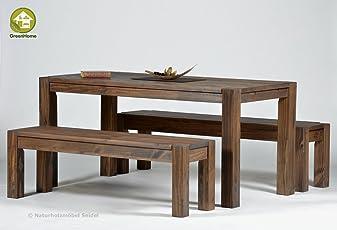 Esstisch ,,Rio Bonito,, 160x80cm + 1 Oder 2 Sitzbänke In 140 Oder