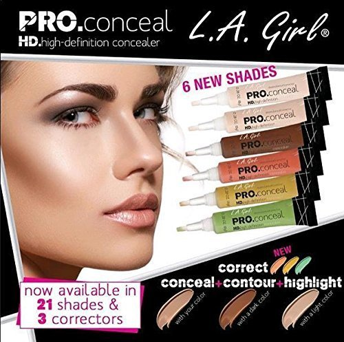 1 La Girl Pro Conceal Hd High Definition Concealer Corrector Coverage#gc 992 Green Corrector by LA Girl