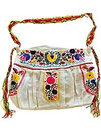 Bonita Lolita Cross Body Bag With Chiapas Belt Strap White By Erica Maree Designs