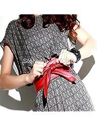 vulna £ ¨ TM £ © venta caliente dama bowknot cinturón Bind Cinturón 3colores Suave Piel Sintética Cintura Cinturón de Cintura