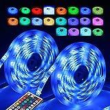 InnooLight 10m LED Strip, 300LEDs IP65 bunt selbstklebend, SMD 5050 LED Lichterkette mit 44 Tasten IR-Fernbedienung und 12V 3A Netzteil als LED Streifen, LED Lichtschlauch, LED Lichtleiste