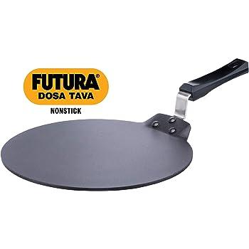 Hawkins Futura Non Stick Aluminium Dosa Tawa, 33cm, Black