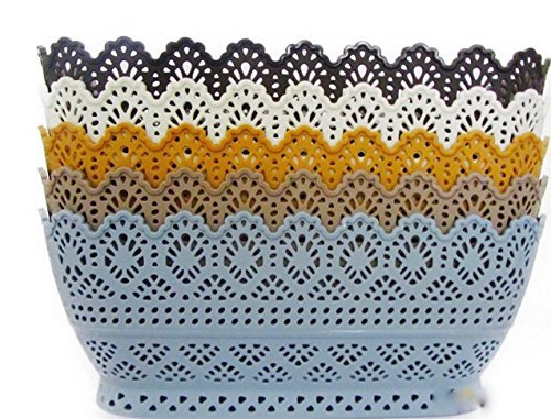 Multipurpose Basket Set of 3 and 5 (Multi Color) for your Clothes Storage, Kitchen, Bathroom, Office, Living Room, Kids Room, Bedroom and Indoor Plants (Fawn,blue,coffee,brown,white, 31.5cms X 21.5 cms X 12.7 cms)