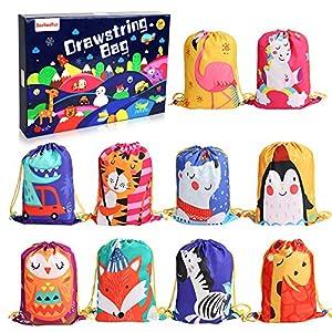 BeebeeRun Mitgebsel Kindergeburtstag Tüten 10 Stück,Party Beutel Turnbeutel Kinder Mädchen Junge ,Geschenktüten…