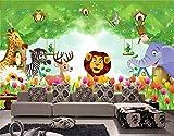 Yosot 3D-Tapeten Fototapete Benutzerdefinierte Größe Wandbild Kinderzimmer Wald Animal Kingdom Malerei Fernseher Sofa Hintergrundbild Für 3D-Wand-450Cmx300Cm