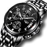 Men's Stainless Steel Wrist watches Men Waterproof Analog - Best Reviews Guide