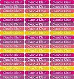 INDIGOS UG 54 Namensaufkleber/Etiketten Mini - 40x6mm - für Kinder, Schule und Kindergarten - Stifte, Federmappe, Lineale - individueller Aufdruck - Markieren von Gegenständen - personalisiert