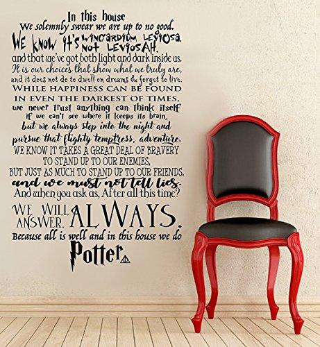 DIY-stickers Buchstaben Wanddekoration Aufkleber in Diesem Haus Sind Potter Wir Do Harry Potter Wand Aufkleber Harry Potter Zitat Wand Aufkleber Schriftzug Vinyl Aufkleber 48x72 inches (Diy Stick Glow)
