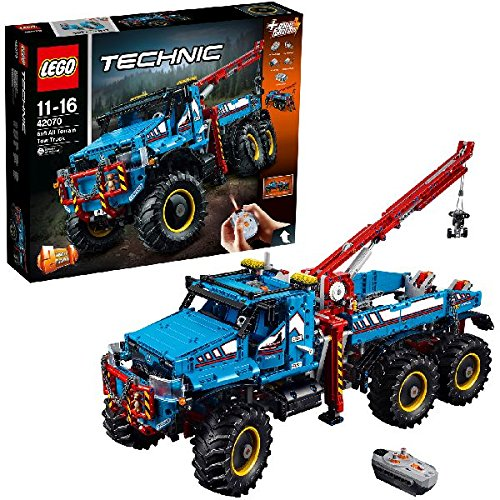 LEGO Technic 6x6 All Terrain Tow Truck 42070 Building Kit (1862 Piece)  available at amazon for Rs.30998