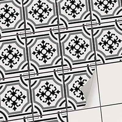creatisto Fliesenfolie Klebefolie | Fliesen Aufkleber Folie Sticker selbstklebend Küche renovieren Bad Küchendekoration | Muster Motiv Portugiesische Fliesen - 9 Stück von creatisto GmbH - TapetenShop