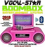 Vocal-star Rose BBK CDG DVD CD Bluetooth Système de Karaoké avec haut-parleurs 2microphones d'écran et 140chansons