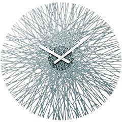 Idea Regalo - koziol 2328540, Orologio da parete, diametro 44,8 cm, Grigio (anthrazit)