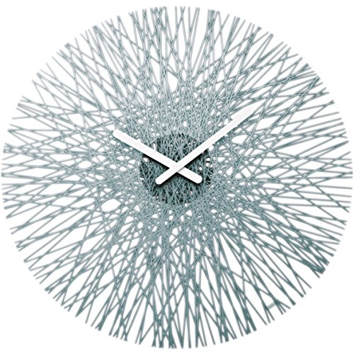 Koziol SILK Wall Clock, transparent anthracite