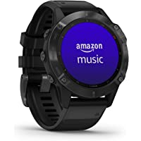 Garmin fēnix 6 Pro, Ultimate Multisport GPS Watch, Features Mapping, Music, Grade-Adjusted Pace Monitoring and Pulse Ox…