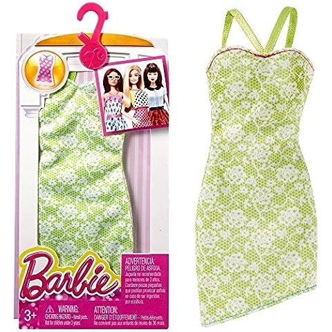 Barbie - Tendencia de la Moda para la Ropa de la Muñeca Barbie - Vestido verde Lima con Flores