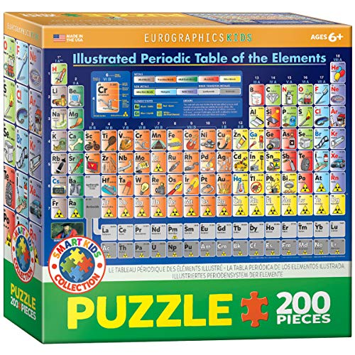 Eurographics Periodensystem bebilderte 200Teile (Puzzle)