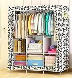 N&B Kinder kommode Tragbare Schrank kleiderschrank Kinder Schlafzimmer Schrank Klamotten Storage Rack Cube Organizer,Große-C 158x106x45cm(62x42x18)
