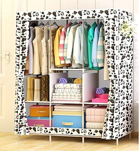 N&B Kinder kommode Tragbare Schrank kleiderschrank Kinder Schlafzimmer Schrank Klamotten Storage Rack Cube Organizer,Große-C 158x106x45cm(62x42x18) (Schrank, Teile Storage Tool Box)