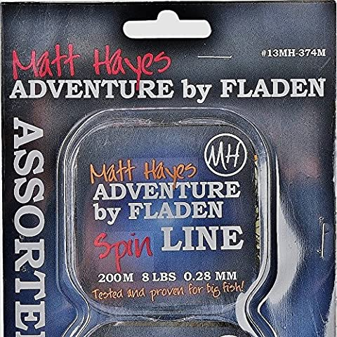 Matt Hayes Adventure–800m (4assortiti Bobine x 200m di lenza monofilo Chiara, contiene 8, 12, 16e 20lbs per rigida Fighting Fish [MH13–374M] - Bobine 20 Pound