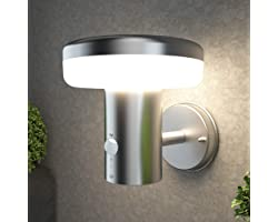 NBHANYUAN Lighting® Outdoor LED Wall Light with Motion Sensor Outside Lights Mains Powered PIR Stainless Steel External Weath