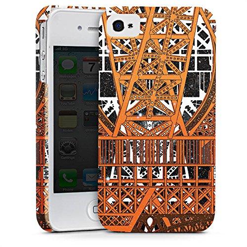 Apple iPhone X Silikon Hülle Case Schutzhülle Paris Eiffelturm Muster Premium Case glänzend