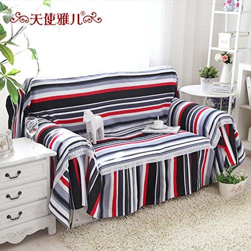 JHS Moderno e semplice striscia di tela telo divano di puro cotone copertura copertura fodera per divano , 180*300cm