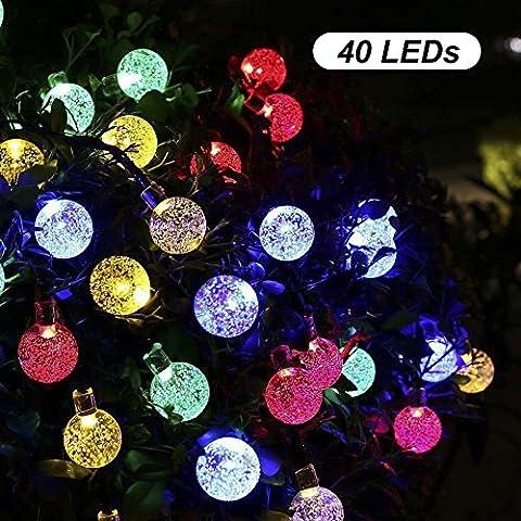 B-right® Außen und Innen 40 LEDs Solar Lichterkette, led lichterkette party, Wasserdicht Weihnachtsbeleuchtung, Beleuchtung für Weihnachten / Hochzeit / Party/Weihnachtsbaum. (Bunt)