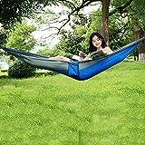 Amaca singola, amaca da campeggio per il tempo libero, amaca per paracadute per il tempo libero, letto per sedia sospeso in nylon ultraleggero e ad asciugatura rapida, A6