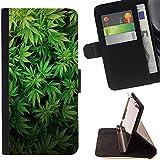 Graphic4You Marijuana Cannabis Bedo Fumeur Design Portefeuille Coque Cache Étui Housse de Protection pour Samsung Galaxy S7 Edge