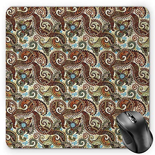 Paisley-tipi (Paisley Mouse Pad, Persian Teardrop with a Curved Tip Motif in a Colorful Eastern Culture Pattern Gaming Mousepad Office Mouse Mat Multicolor)