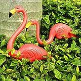 Giardino Decorazione 2Pcs Artificiale Fenicotteri Rosa Cortile