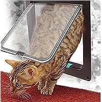 colorfulworld Cat Flap Microchip mascotas Tapa 4Vías de pesca para puerta con túnel gato Tapa
