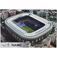 Preisvergleich für Schreibtischunterlage Real Madrid / Stadion Estadio Santiago Bernabeu incl. Name - 50 cm * 36 cm - PVC Unterlage / Knetunterlage / Schreibunterlage / Tischunterlage - für Jungen Fußballspieler Fußball Fußballstadion