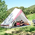 skandika Tipii II 8 Person Tent Festival Party Tent Teepee Wigwam with 250 cm Height, 3000 mm Water Column & Zip-Up… 12