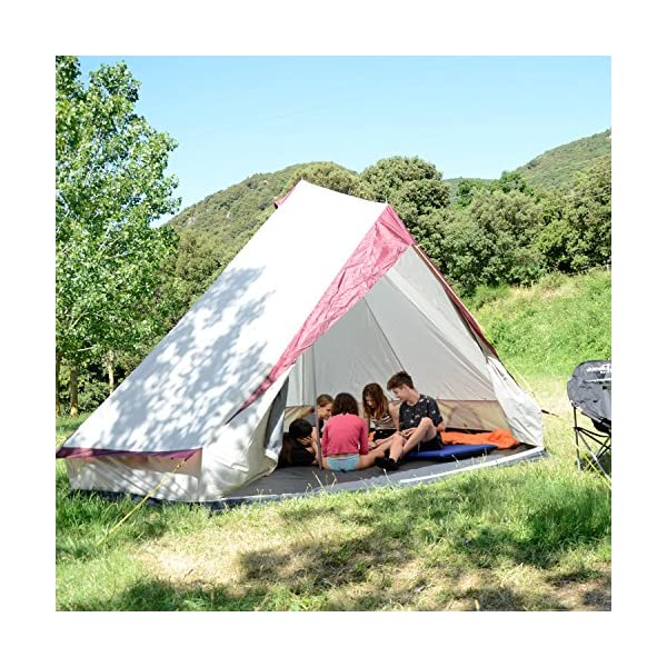 Skandika Tipii II 8 Person Tent Festival Party Tent Teepee Wigwam with 250 cm Height, 3000 mm Water Column & Zip-Up Walls 3