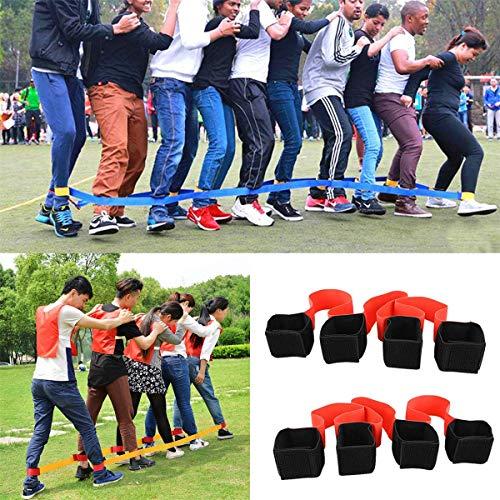 Vektenxi4 Legged Race Bands Outdoor-Spiel für Kinder Erwachsene Geburtstag Team Party Games Langlebig und nützlich -
