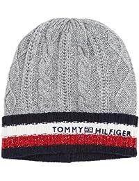 Tommy Hilfiger Cable Corporate Beanie, Bonnet Femme