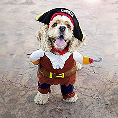 Pawz Road Pirates of the Caribbean Pet Costume Cartoon Dog Hoodies Halloween Transfiguration Equipment from pupproperty dog clothing
